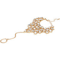 Gold tone embellished hand harness