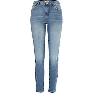 Mid wash Jenna straight jeans