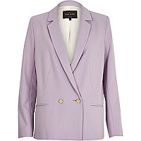 Light purple tailored blazer