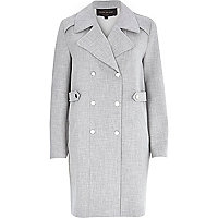 Grey bonded trench coat