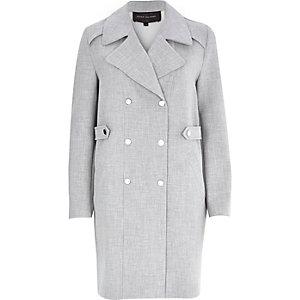 Grey bonded trench coat