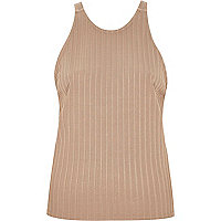 Beige chunky ribbed top
