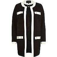 Black block colour long sleeve jacket