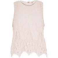 Light pink lace tank top