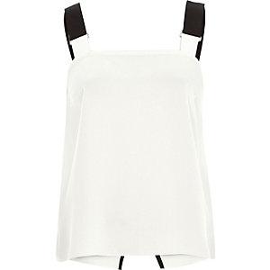 White buckle strap cami