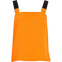 Orange buckle strap cami