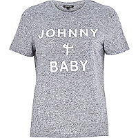Grey Johnny and Baby print t-shirt