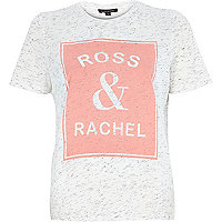 White Ross and Rachel print t-shirt