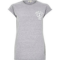 Grey sugar high fitted t-shirt