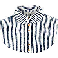 Navy stripe collar bib