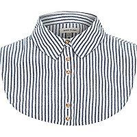 Navy stripe collar bib