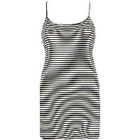 Black stripe scoop neck cami top
