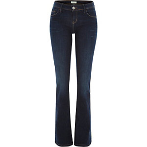 Dark wash Hailey low rise bootcut jeans
