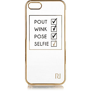 White iPhone 5 checklist phone case