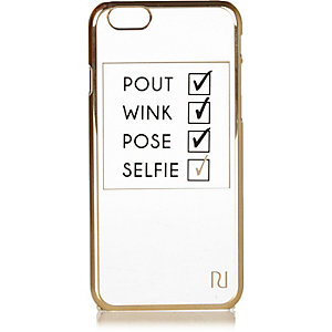 White iPhone 6 checklist phone case