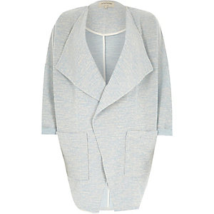 Light blue slouchy cocoon jacket