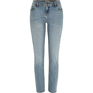 Mid wash Stevie straight jeans