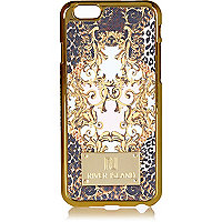 Pink baroque print iPhone 6 phone case