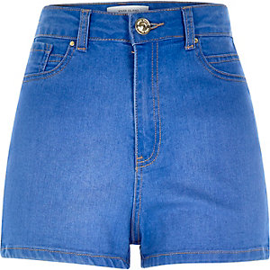 Blue high waisted Nori denim shorts