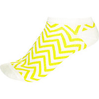 Yellow zig zag trainer ankle socks