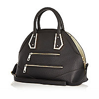 Black curved handbag