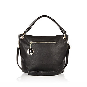 Black bucket handbag