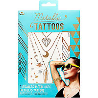 Metallic gold temporary tattoos