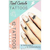 Black nail cuticle tattoos