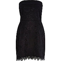 Black lace bandeau dress