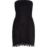 Black lace bandeau dress