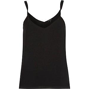 Black V-neck cami top