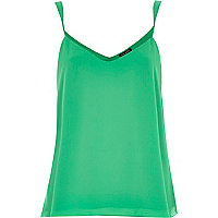 Green V-neck cami