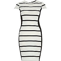 Black stripe bodycon mini dress