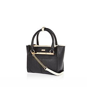 Black mini tote bag