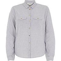 Blue micro stripe shirt