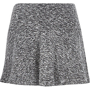 Grey jersey flippy skirt