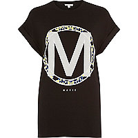Black magic print oversized t-shirt