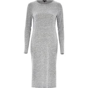 Grey long sleeve t-shirt dress