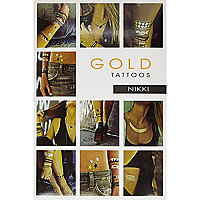 Gold Tattoos semi permenant metallic tattoos