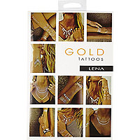 Gold Tattoos temporary metallic tattoos