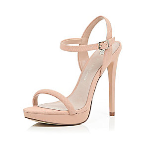 Nude barely there sandals