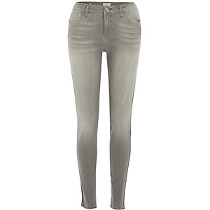 Grey wash Amelie superskinny jeans