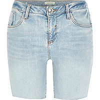 Light wash Amelie denim shorts