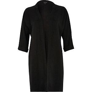 Black slouchy kimono