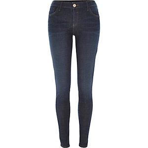 Dark wash Amelie crosshatch superskinny jeans