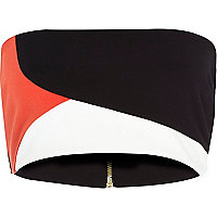 Black colour block bandeau