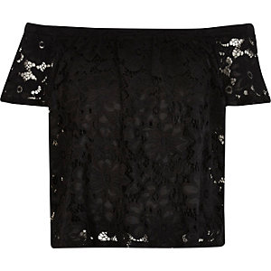 Black lace gypsy top