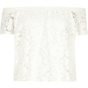 Cream lace gypsy top