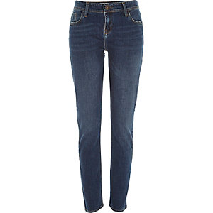 Dark wash Stevie straight jeans
