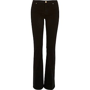 Black Brooke flare jeans